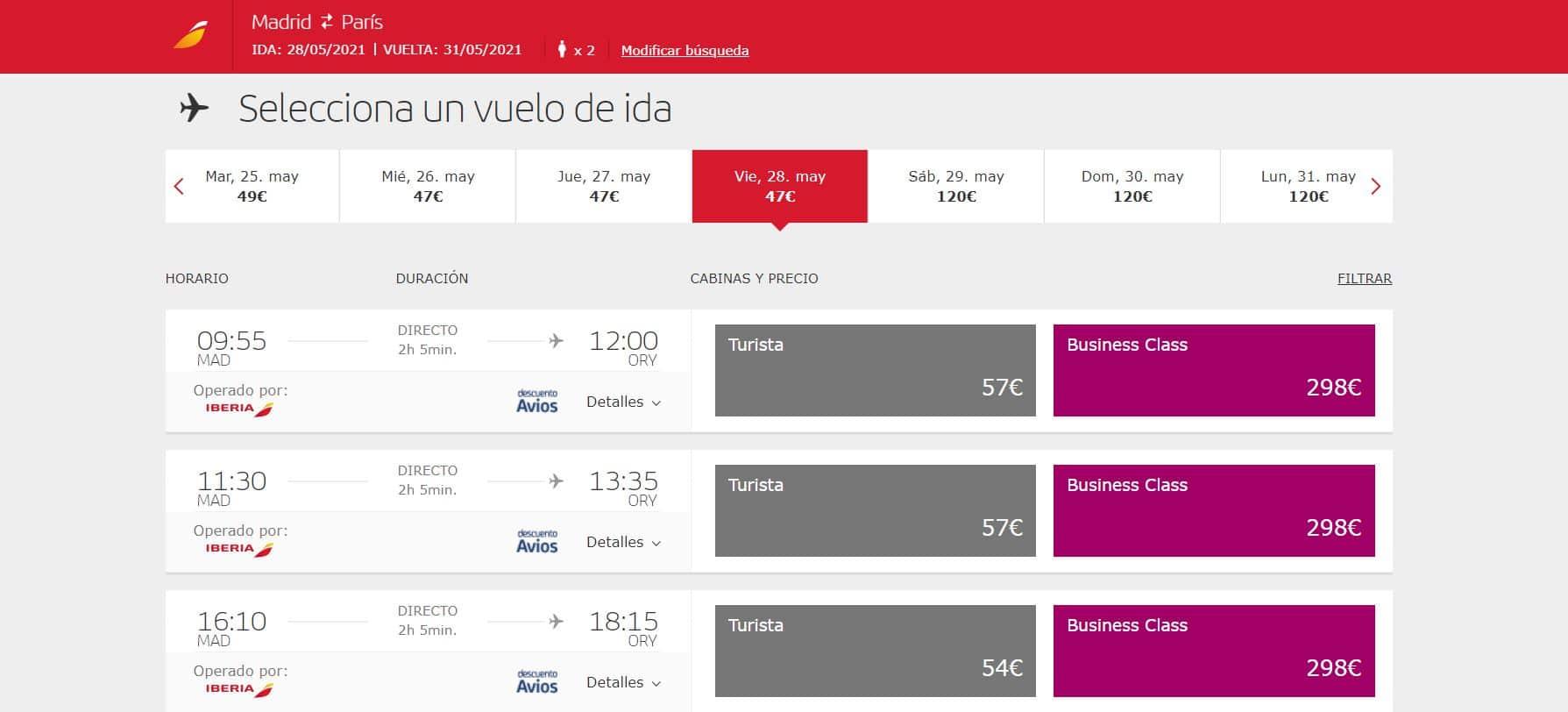 Cómo reservar vuelos en Iberia