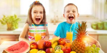jugo de frutas niños