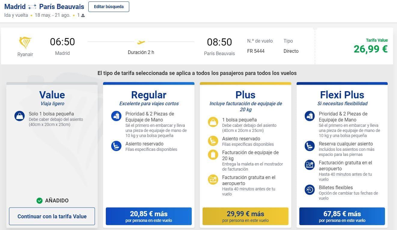 Comprar billetes de vuelos en Ryanair