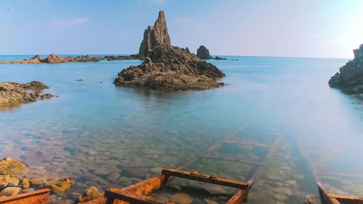 Arrecife de las sirenas en Almería
