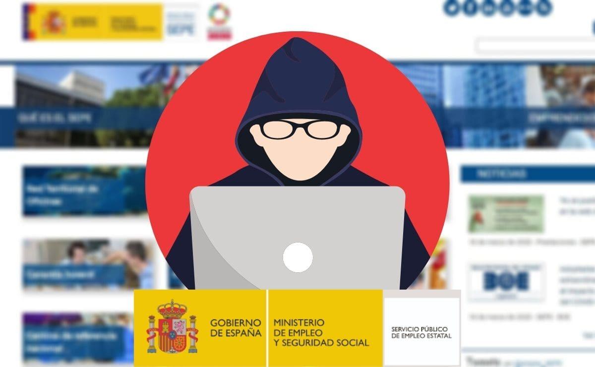 Ciberataque web SEPE