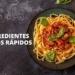 Ingredientes platos comidas rápidas