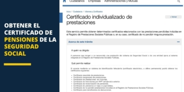 Obtener el certificado de pensiones de la Seguridad Social