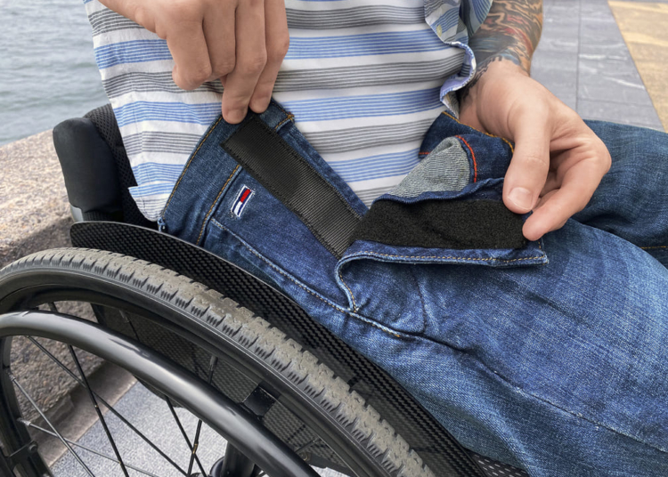 cierre velcro Pantalon lateral