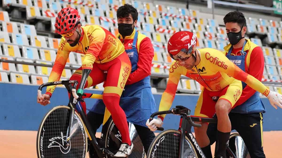 Selección Española de Ciclismo Adaptado preparando los Juegos Paralímpicos de Tokio