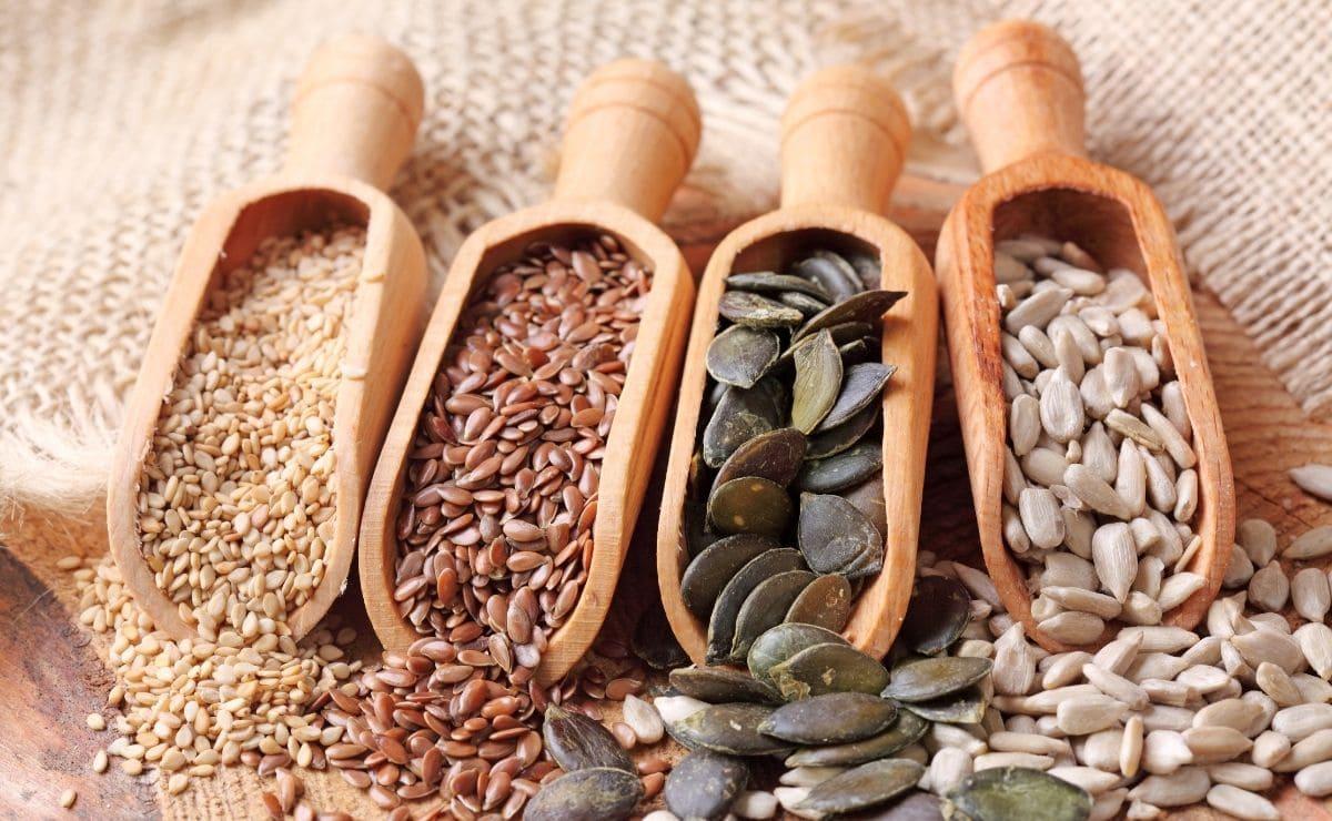 Semillas de girasol vitamina E
