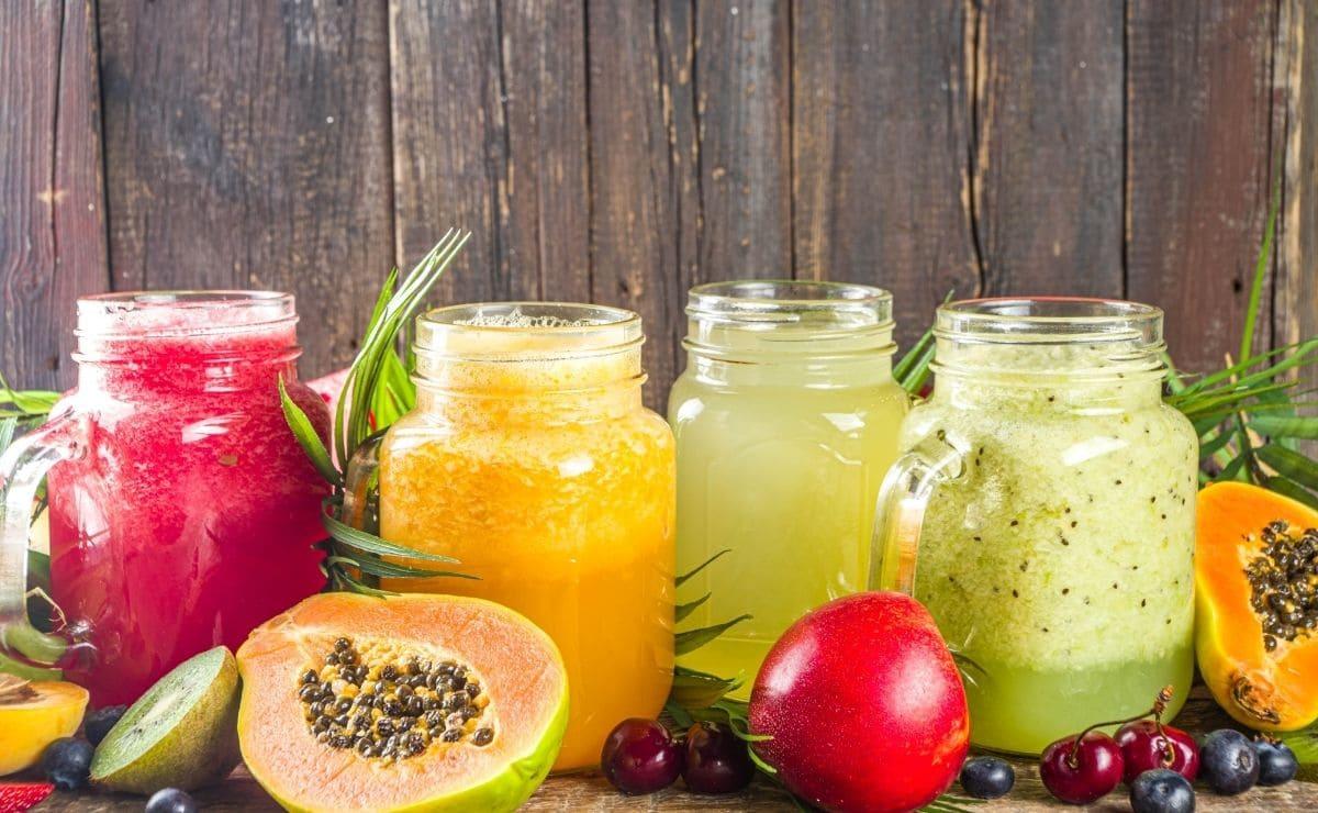 Smoothie de jugo de frutas