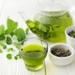 Té verde en taza