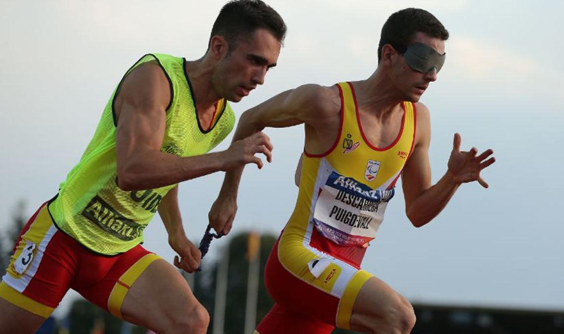Gerard Descarrega y Guillermo Rojo en la prueba para clasificarse para los Juegos Paralímpicos   Foto: CPE