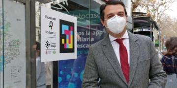 presentación Navilens Cordoba accesibilidad parada autobús José María Bellido