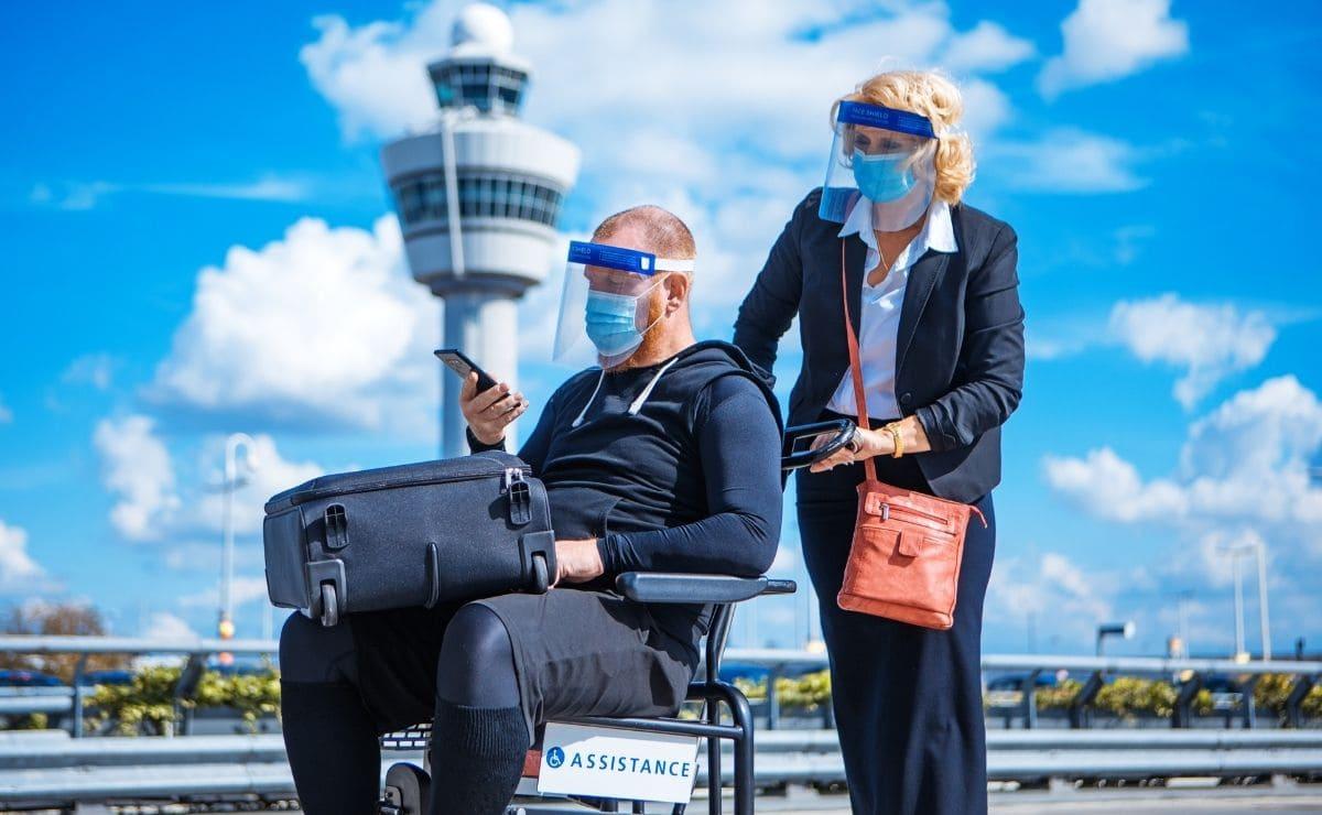 viaje aeropuerto persona con discapacidad