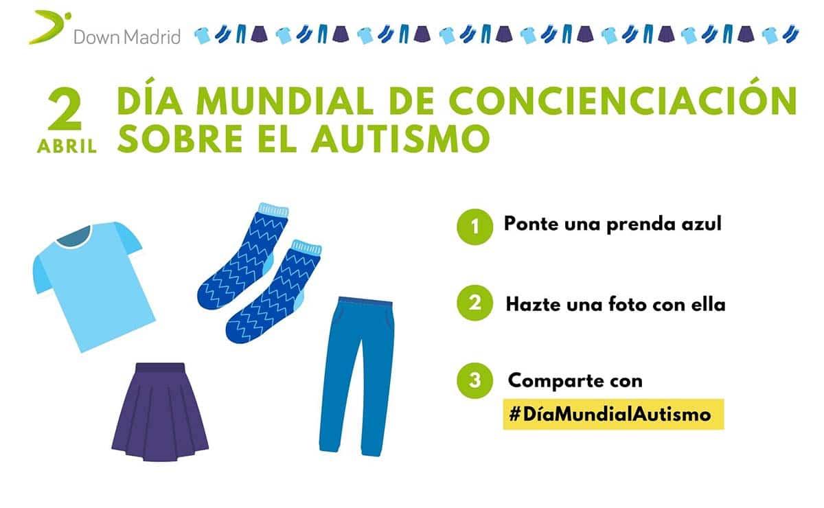 Down Madrid azul dia mundial del autismo