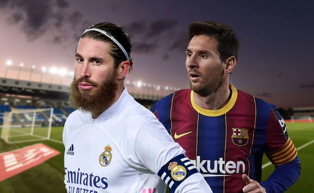 Sergio Ramos y Lionel Messi durante El Clásico   TODODISCA