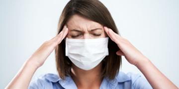 Mascarillas incrementa dolor de cabeza migraña pandemia