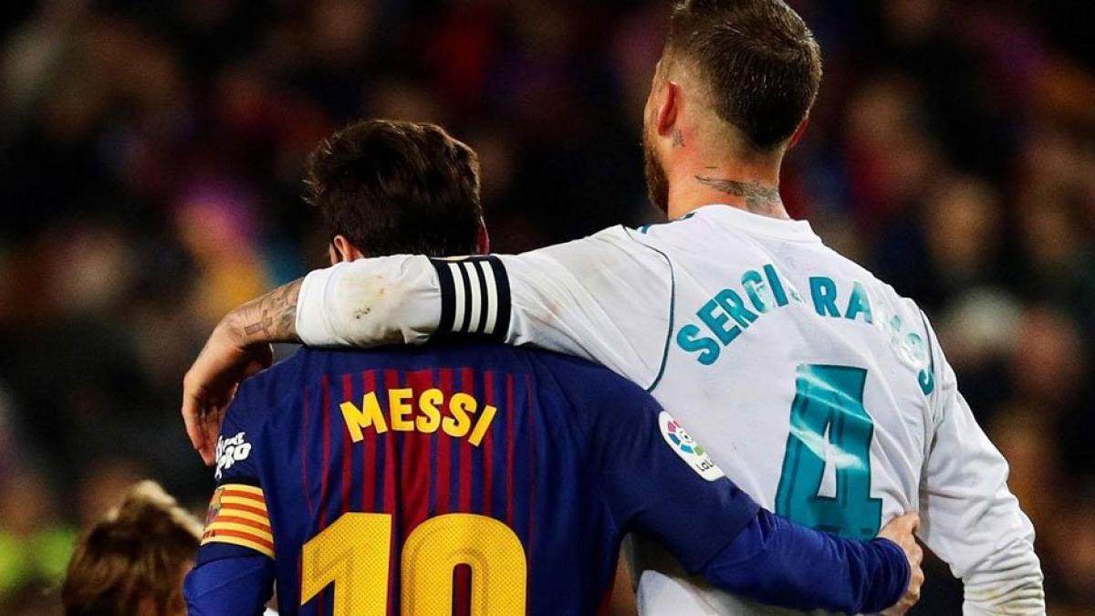Lionel Messi y Sergio Ramos durante El Clásico