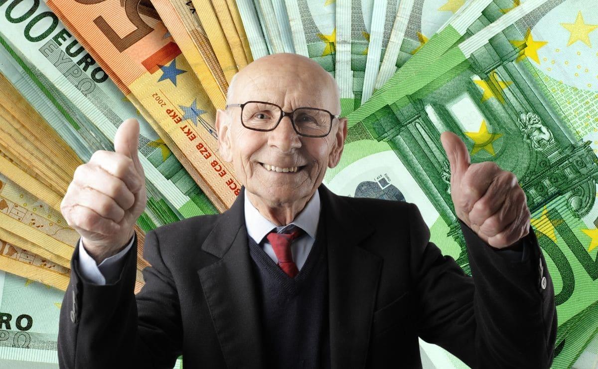 pension media españa euros pensiones jubilacion jubilado