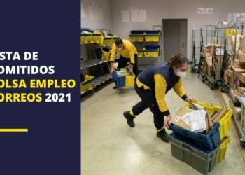Lista de admitidos de la bolsa de empleo de Correos 2021