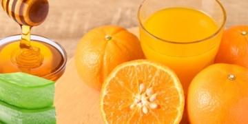 Jugo de naranja cin miel y aloe vera