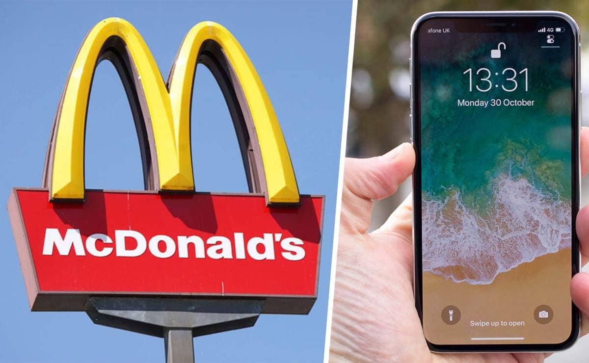McDonald's trabajador empleo Estados Unidos Iphone