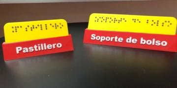 cartel braille personas con discapacidad
