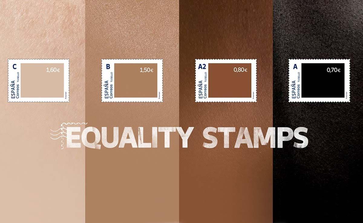 nuevos sellos correos racismo