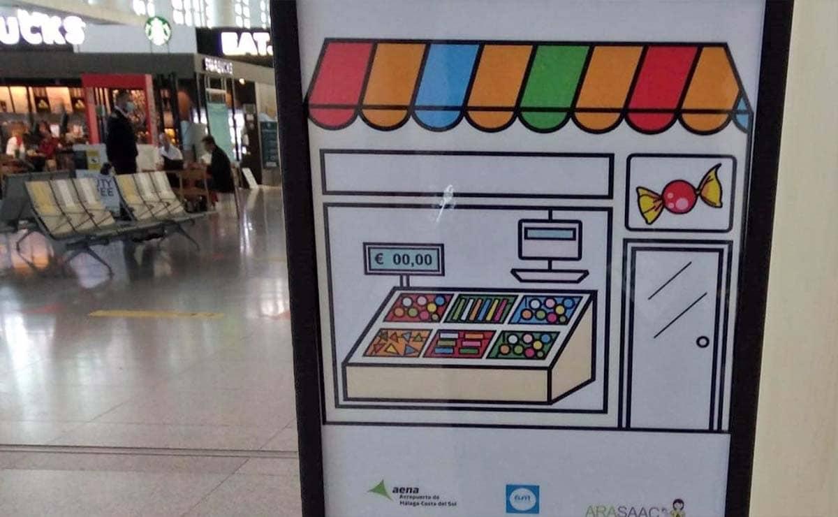 pictogramas aeropuerto de Malaga