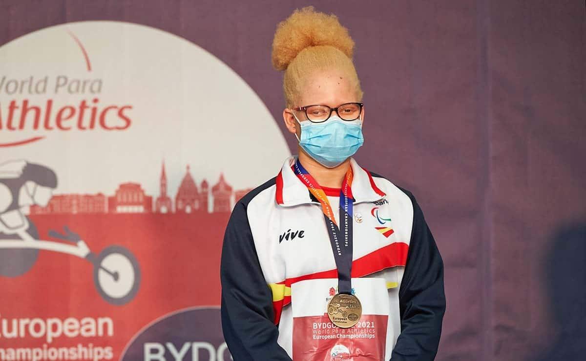 Adiaratou Iglesias atleta con discapacidad