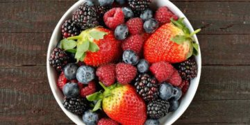 Frutas del bosque saludables antioxidantes