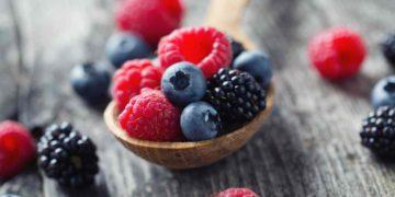 Frutos rojos alimento saludable
