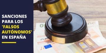 Trabajador autónomo sanciones falsos autónomos