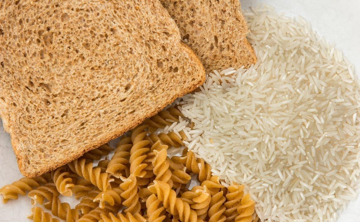 arroz pasta pan de molde