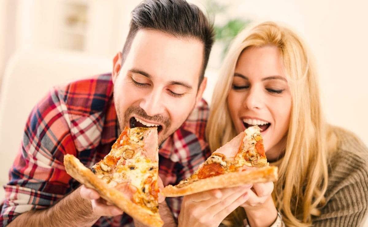 comer pizza perdida de peso
