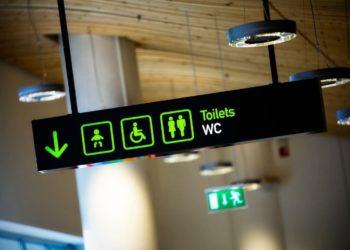 cuarto de baño wc aeropuerto discapacidad