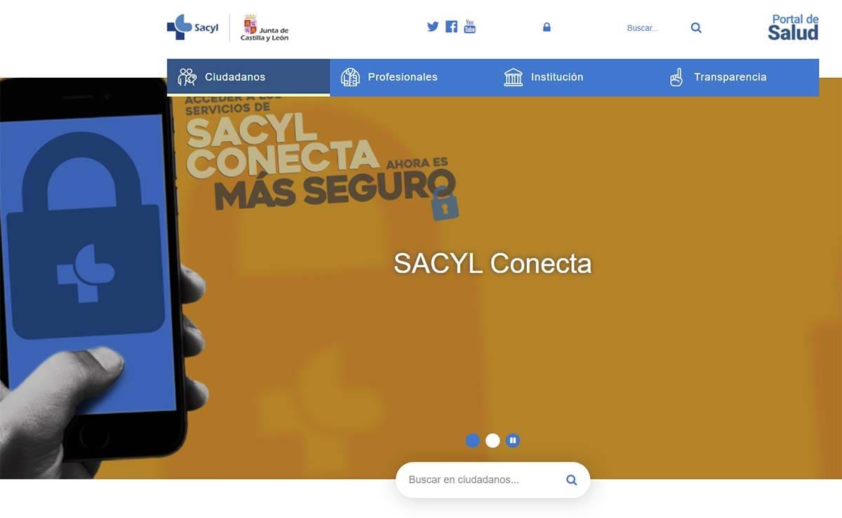 pagina web Salud publica castilla y leon