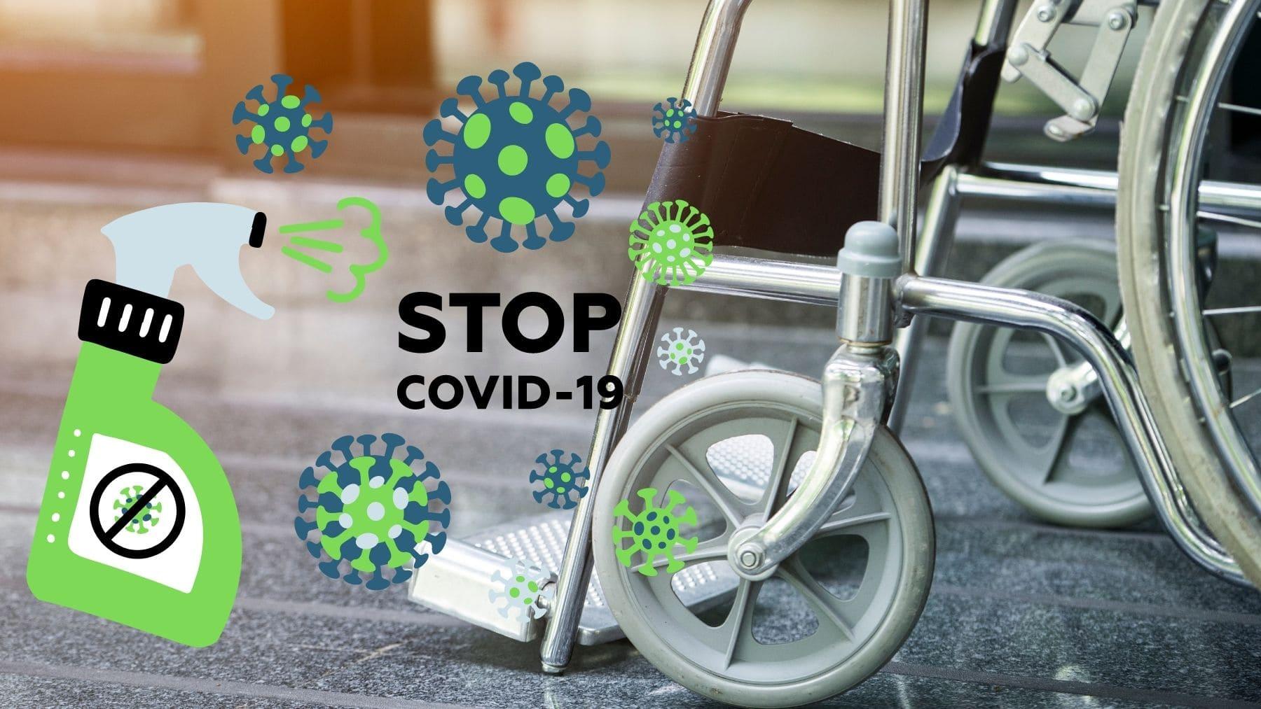 Desinfectar silla de ruedas Covid-19