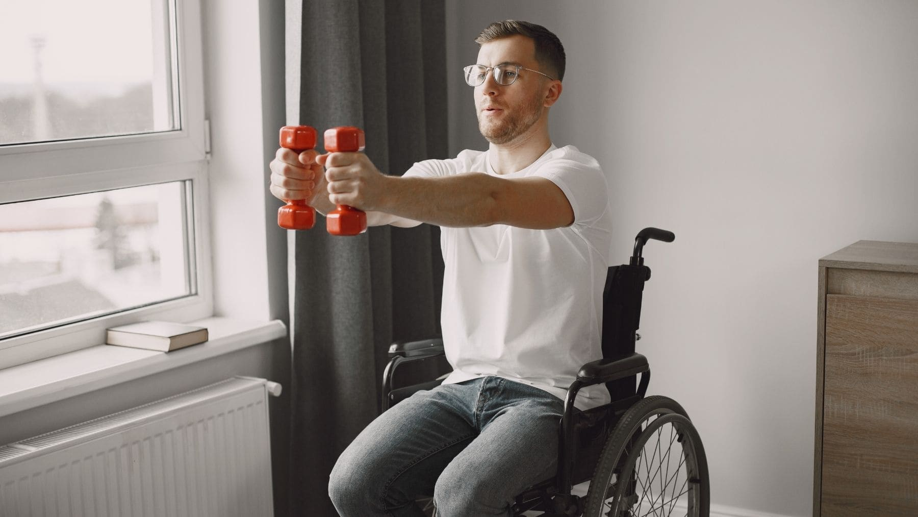 Ejercicio fisico en silla de ruedas