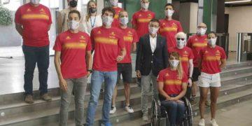 Equipo de la Federación Española de Triatlón para los Juegos Paralímpicos de Tokio 2020