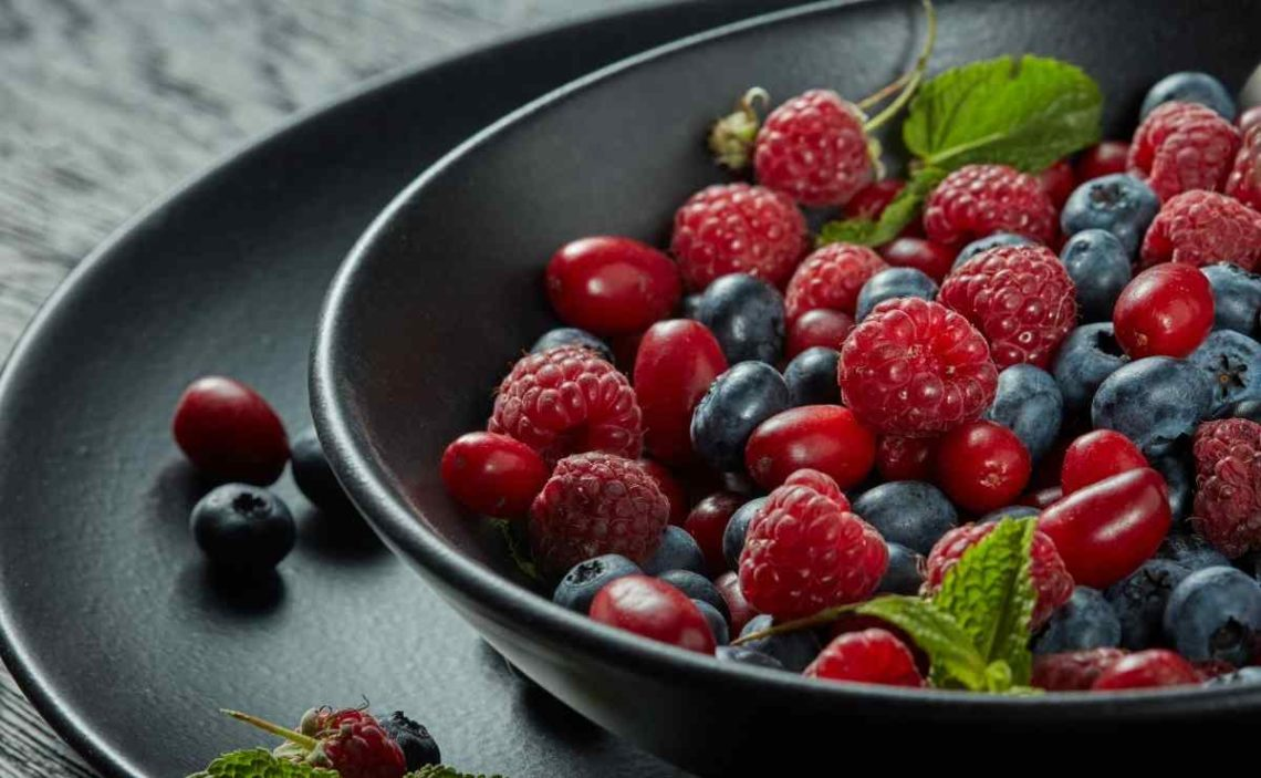 Frutas del bosque saludables