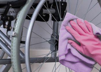 Limpieza silla de ruedas Covid