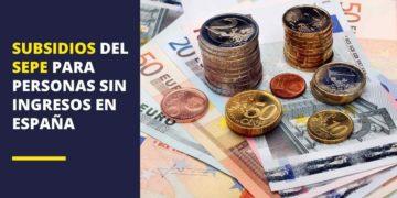 Subsidios del SEPE para personas sin ingresos