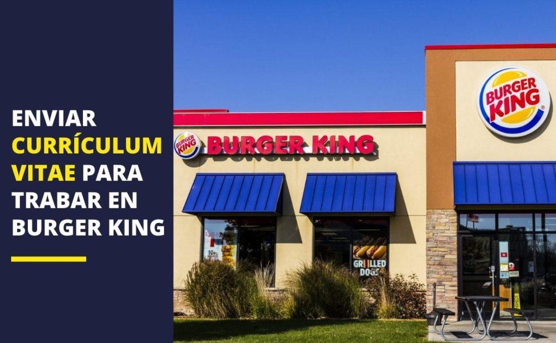 currículum vitae Burger King