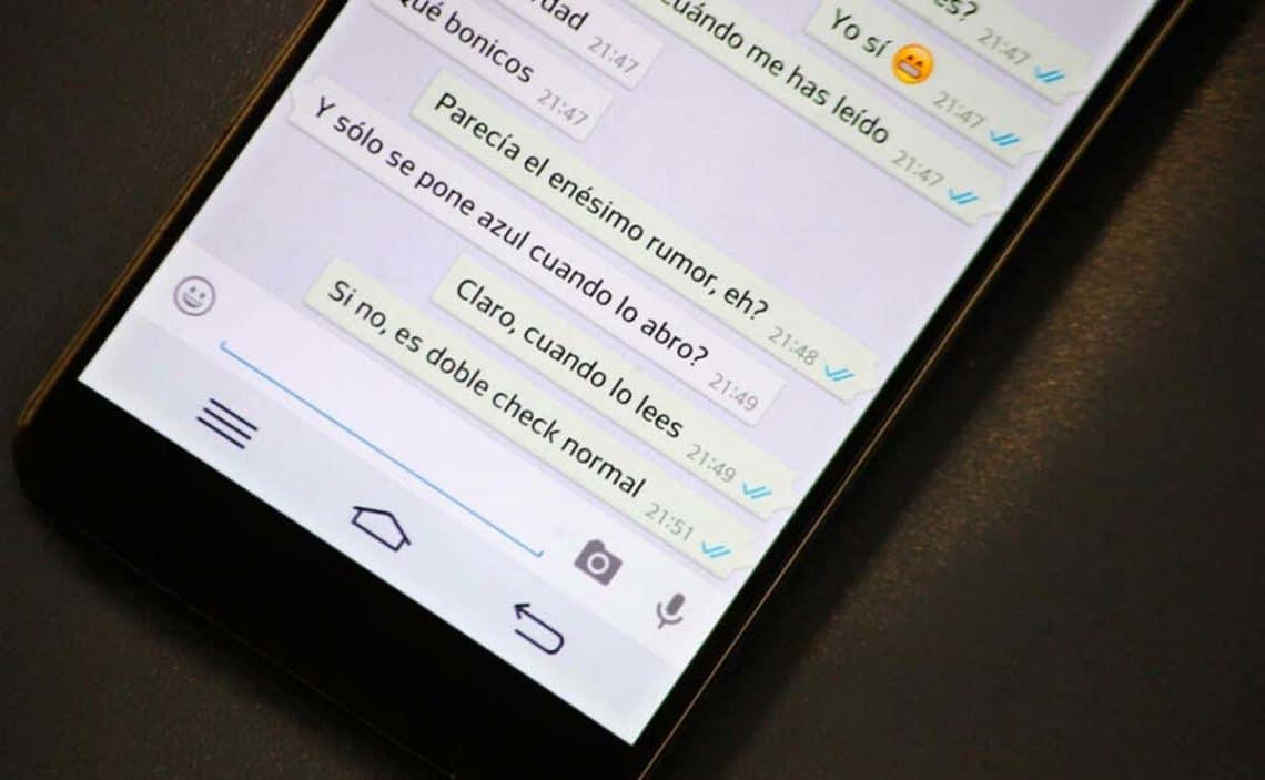doble tick azul en Whatsapp leer