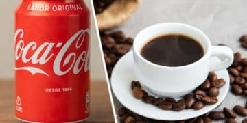 lata de Coca-Cola cafe
