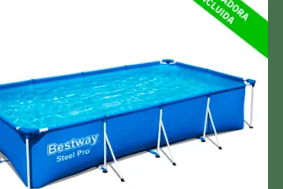 Piscina tubular de PVC rectangular BESTWAY - 199,00€
