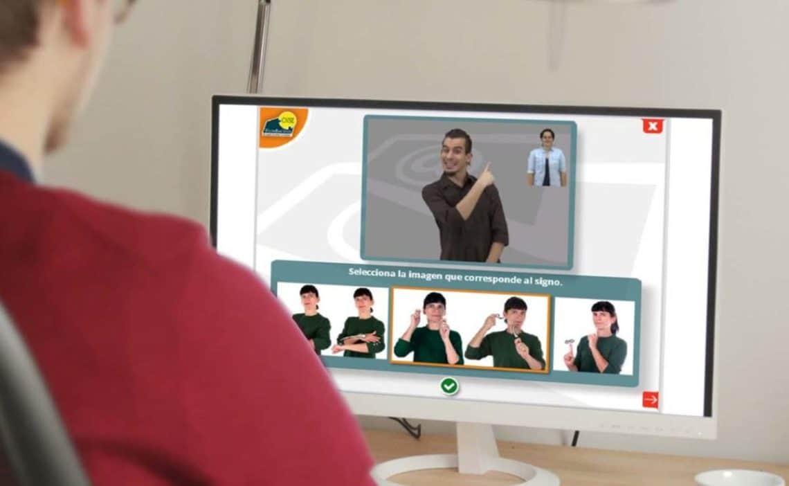 teleformacion lengua de signos Signocampus de la Fundacion CNSE