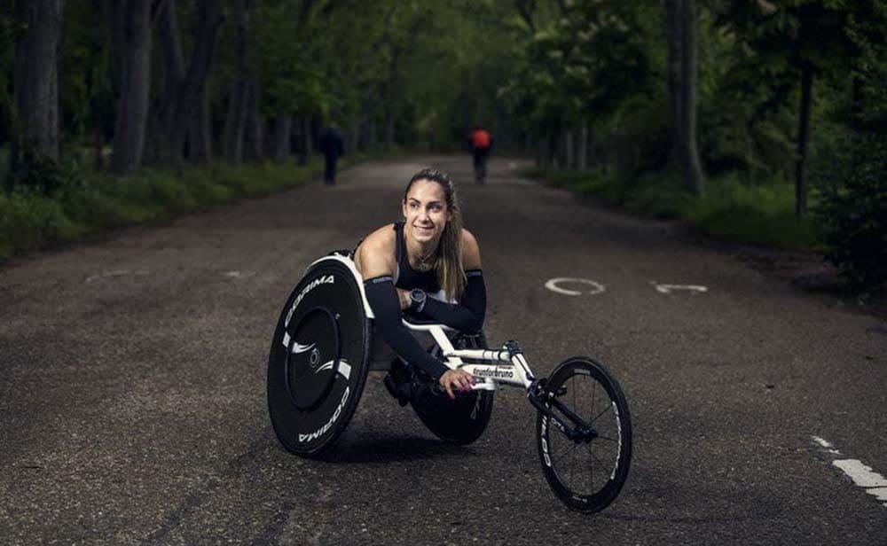 Carmen Giménez atleta con discapacidad silla