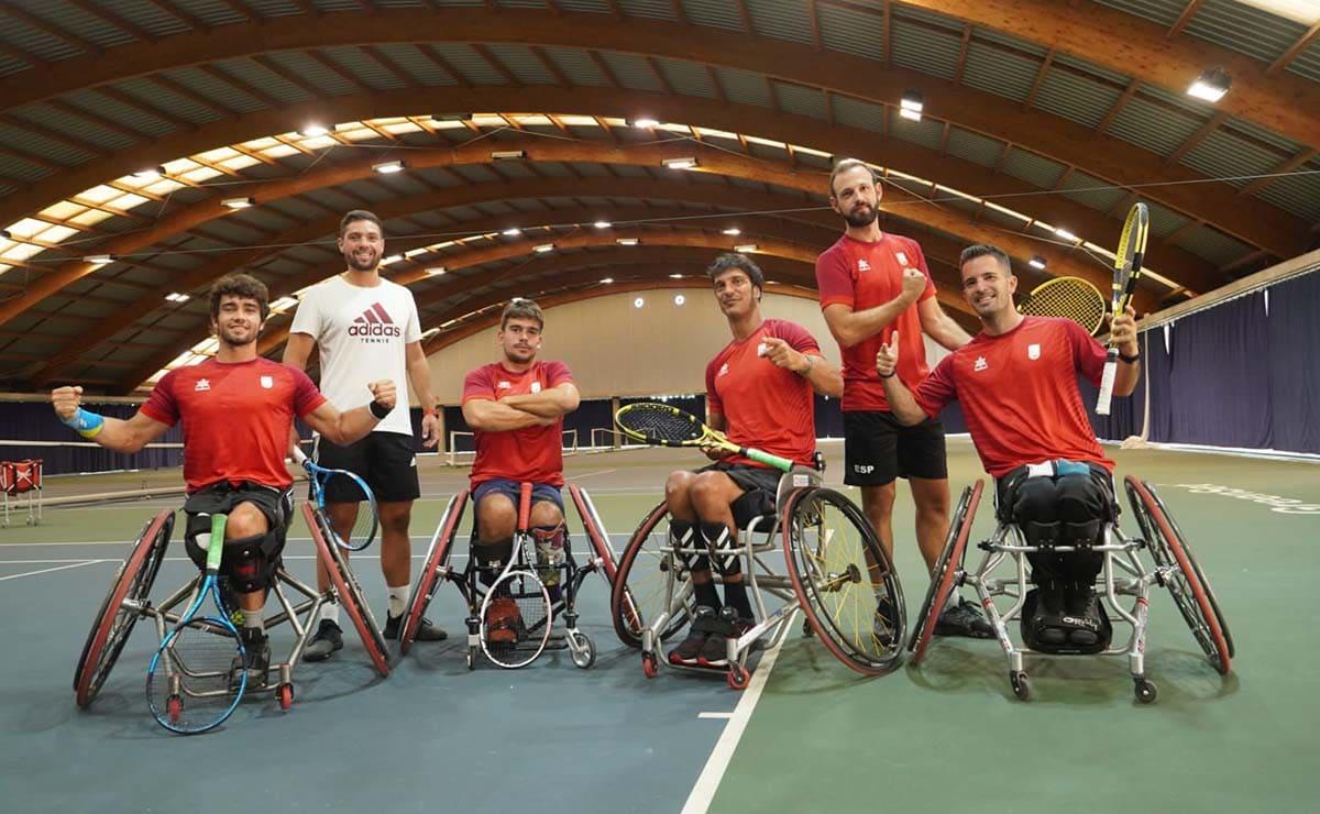 Daniel Caverzaschi equipo español tenis juegos paralimpicos