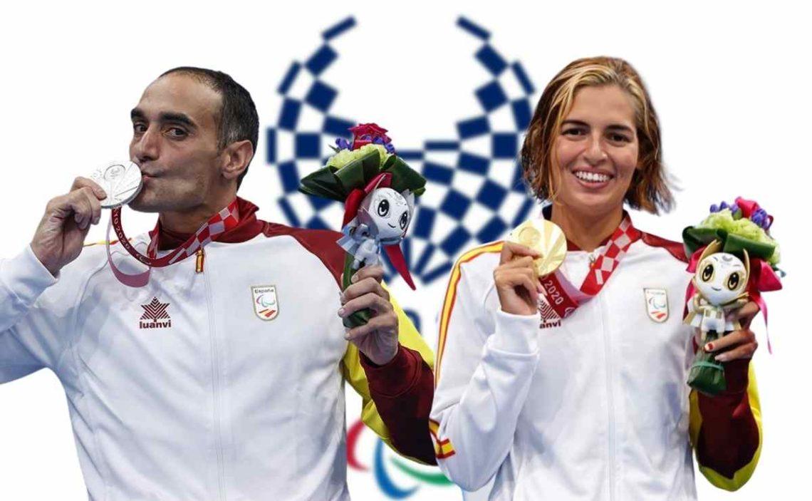 Toni Ponce y Michelle Alonso en los Juegos Paralímpicos de Tokio 2020
