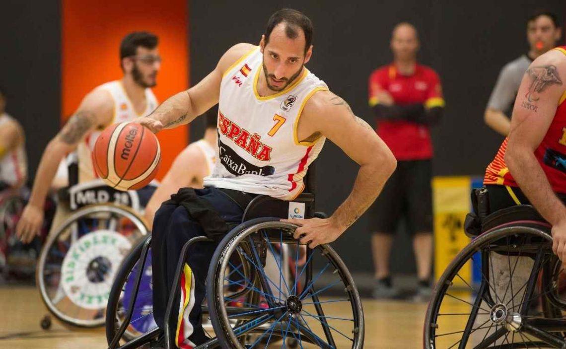 Pablo Zarzuela en un partido de preparación para los Juegos Paralímpicos de Tokio 2020