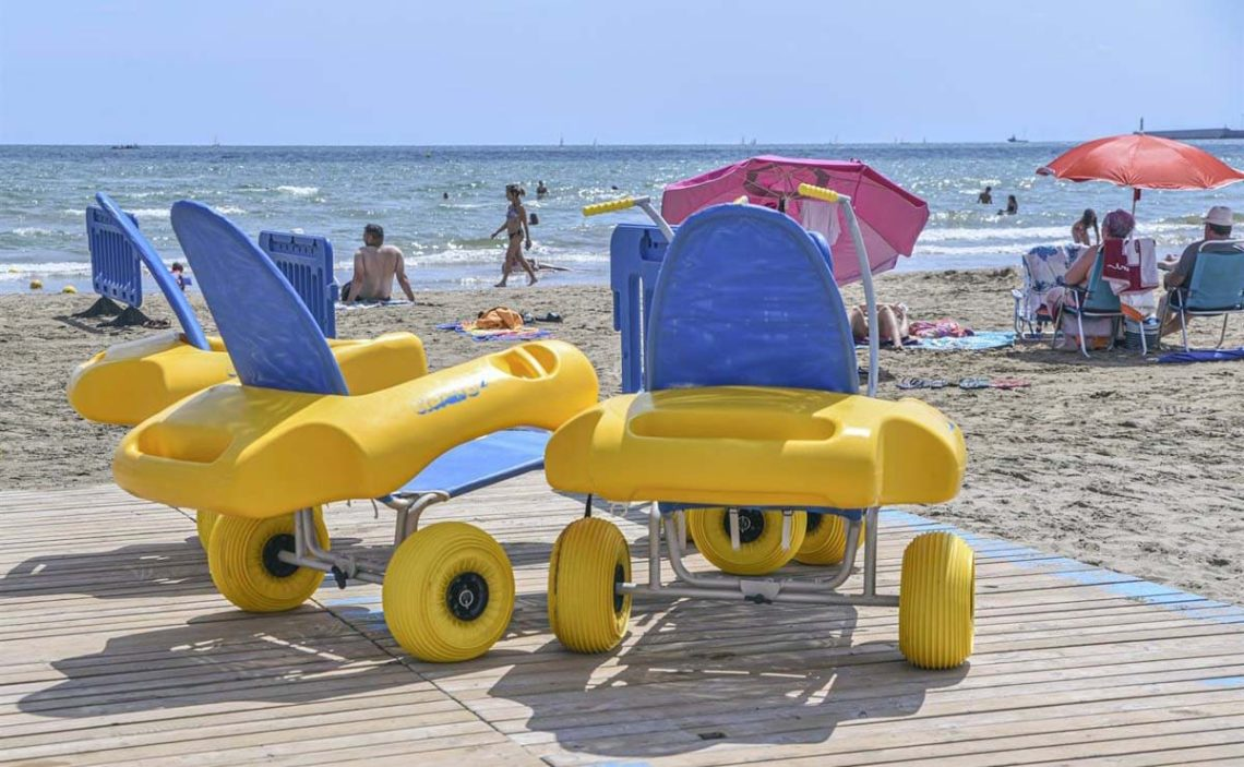 playa del Cabanyal de Valencia baño accesible